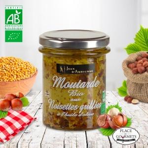 Moutarde bio aux noisettes grillées de Jean d'Audignac