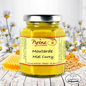 Moutarde au miel et curry 100 gr par la Légende de Pyrène