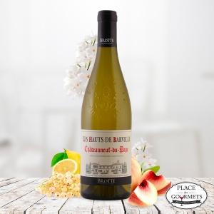 Les Hauts de Barville vin blanc Châteauneuf-du-Pape, Maison Brotte