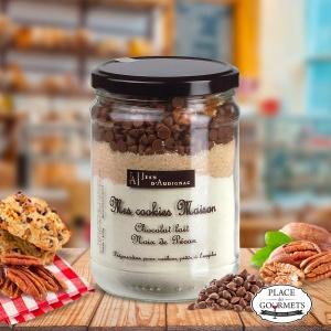 Kit de préparation pour cookies chocolat au lait et noix de pécan