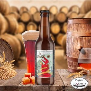 Cognac Barrel : biere ambree Barley Wine par la brasserie La Débauche