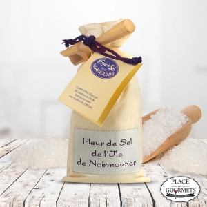 Sachet de fleur de sel de Noirmoutier et sa petite pelle de service