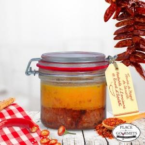 Terrine de magret de canard, moutarde à l'ancienne et piment d'Espelette Ducs de Gascogne
