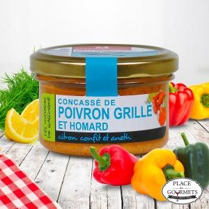 Concassé de poivron grillé et homard, citron confit et aneth, Ducs de Gascogne