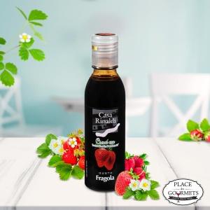 Crème de vinaigre balsamique IGP Modène aromatisée àla fraise par Casa Rinaldi