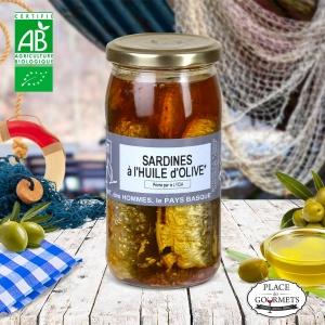 Sardines à l'huile d'olive bio par Jean de Luz