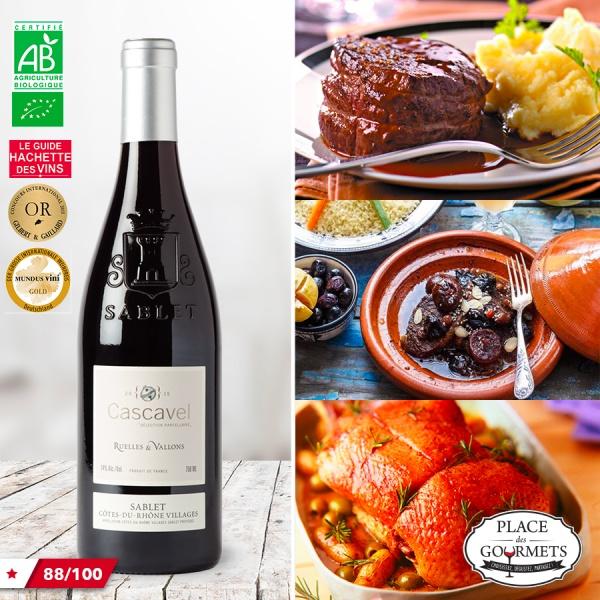 Cascavel Ruelles & Vallons vin rouge bio Côtes-du-Rhônes Villages bio 2015