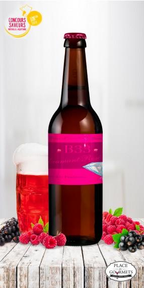 B33 Diamant rosé 75cl, bière aromatisée à la framboise