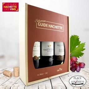 Coffret cadeau vins sélection guide Hachette
