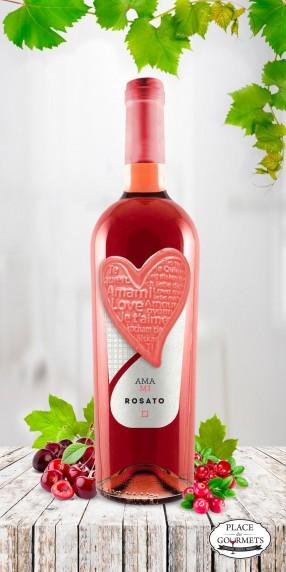 Amami Rosato IGP Puglia vin rosé italien 2017 , Etiké