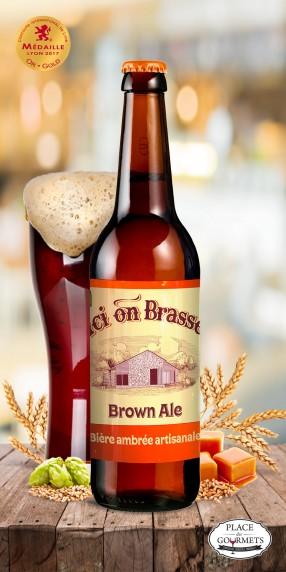 Ici on brasse bière Ambrée 33cl Brown Ale