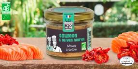 Mousse à tartiner bio saumon aux tomates séchées