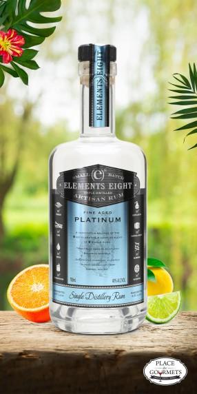 Elements 8 platinium  Rhum de Sainte-Lucie
