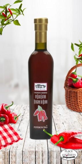Huile d'olive extra vierge au piment