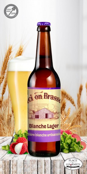 Ici on brasse Bière Blanche Lager 33cl