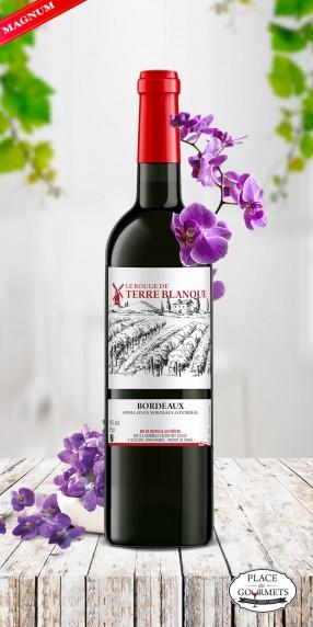 magnum vin Bordeaux le Rouge de Terre Blanque