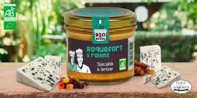 Crème à tartiner bio roquefort et raisins